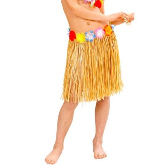 Jupe Hawaïenne naturel 55 cm- Taille S/M/L