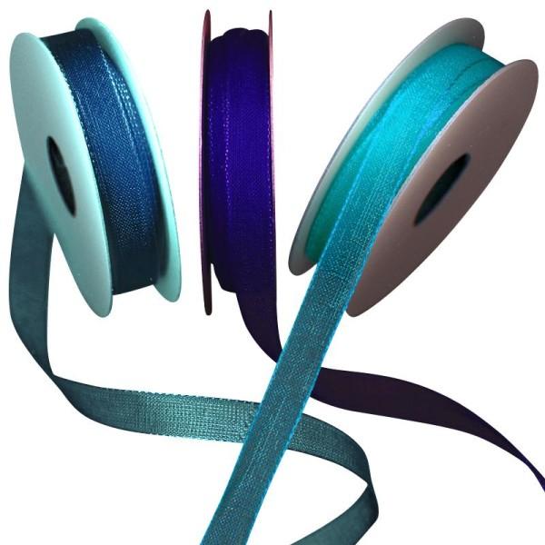 Ruban organdi bleu 3 x 5 m - Photo n°1