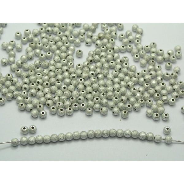 30 PERLE STARDUST Acrylique 6mm Argenté Creation Bijoux, Bracelet - Photo n°1