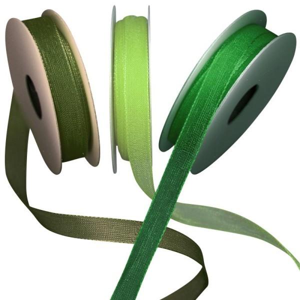 Ruban organdi vert 3 x 5 m - Photo n°1