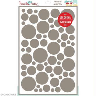 Pochoir inversé - Motif Cercles confettis - 30,5 x 46 cm