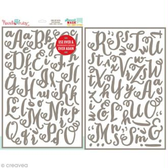 Pochoir inversé - Lettre alphabet Chalk art - 30,5 x 46 cm