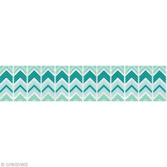 Washi tape Hazel Ruby - Chevrons verts et bleus - 5 cm x 6,1 m