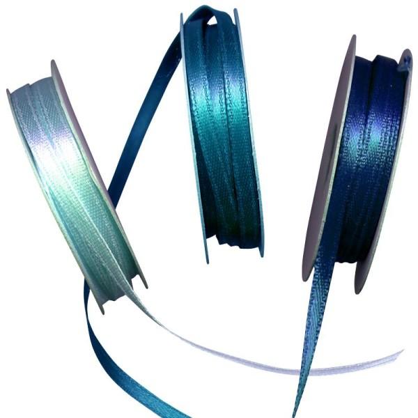 Ruban satin bleu 3 x 6 m - Photo n°1