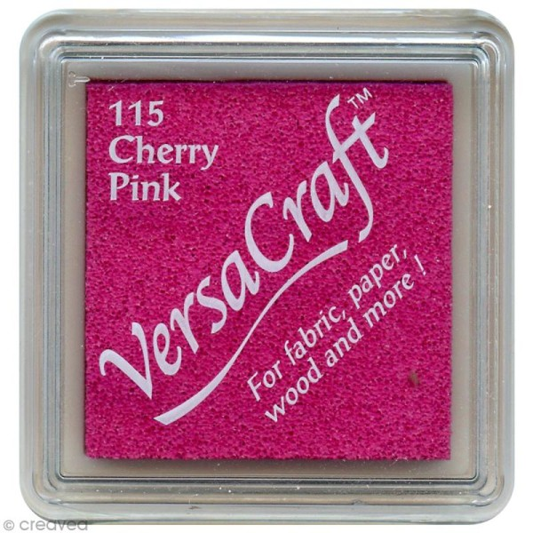 Encreur textile Versacraft Mini - Rose cerise (cherry pink) - Photo n°1