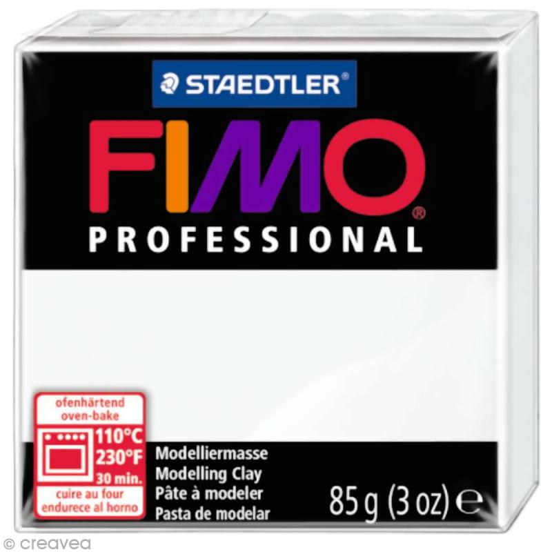 Fimo Professional Blanc 0 - 85 gr - Photo n°1