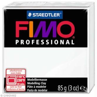 Pâte Fimo Professional Blanc 0 - 85 gr