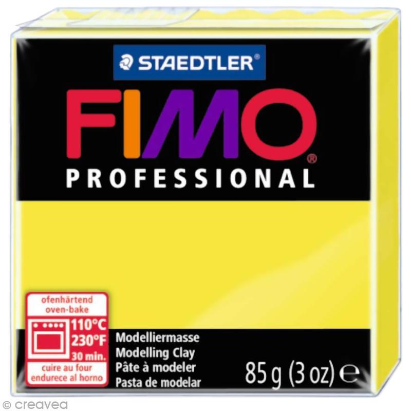 Fimo Professional Jaune citron 1 - 85 gr - Photo n°1