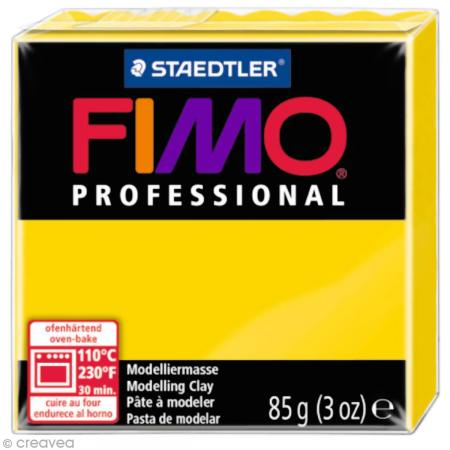 Fimo Professional Jaune pur 100 - 85 gr - Photo n°1