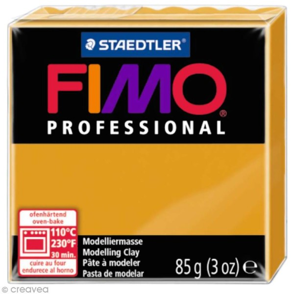 Pâte Fimo Professional Jaune ocre 17 - 85 gr - Photo n°1