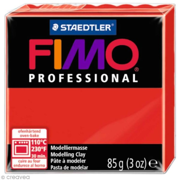 Pâte Fimo Professional Rouge pur 200 - 85 gr - Photo n°1