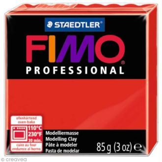 Pâte Fimo Professional Rouge pur 200 - 85 gr