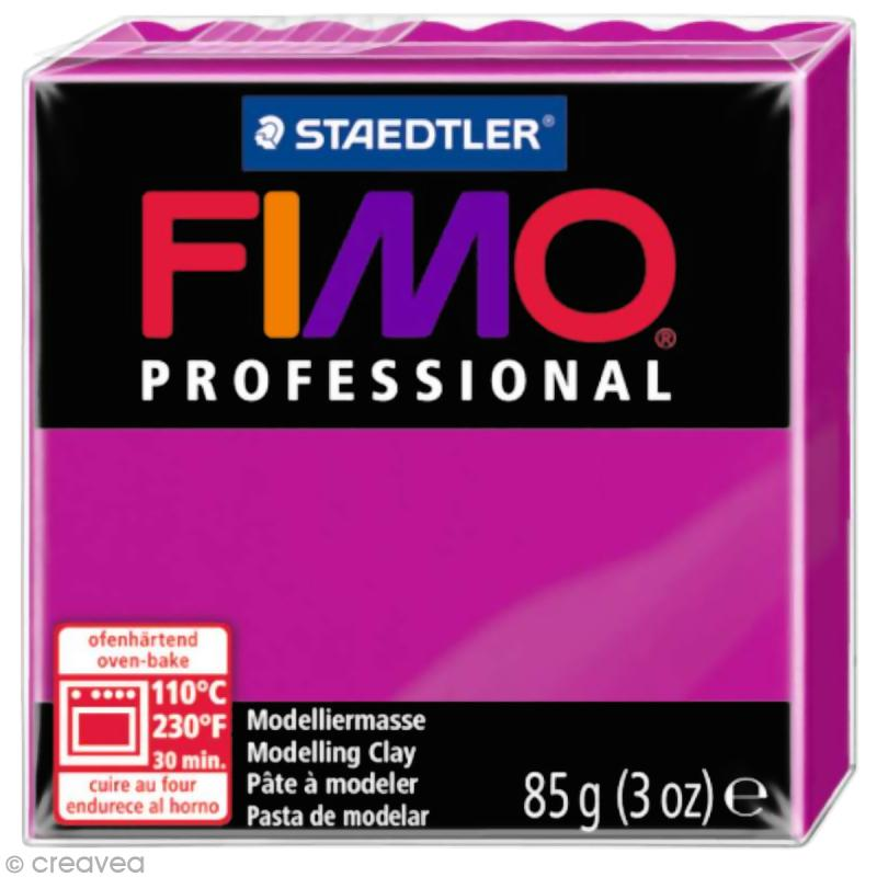 Fimo Professional Magenta pur 210 - 85 gr - Photo n°1