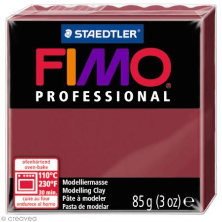 Fimo Professional Rouge bordeaux 23 - 85 gr - Photo n°1