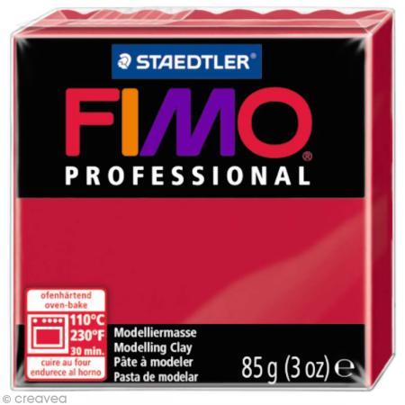 Fimo Professional Rouge carmin 29 - 85 gr - Photo n°1