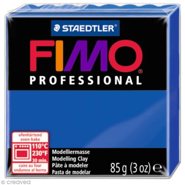Pâte Fimo Professional Bleu ultra marine 33 - 85 gr - Photo n°1