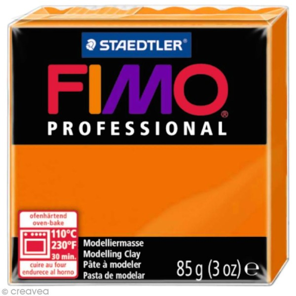 Pâte Fimo Professional Orange 4 - 85 gr - Photo n°1