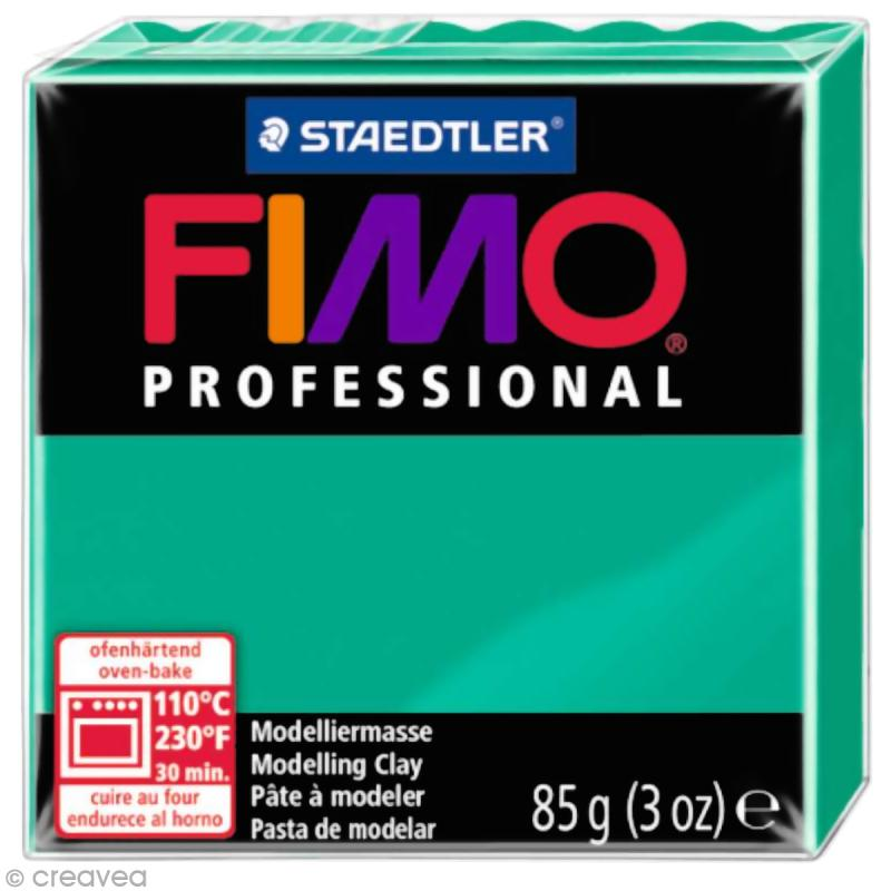 Fimo Professional Vert pur 500 - 85 gr - Photo n°1