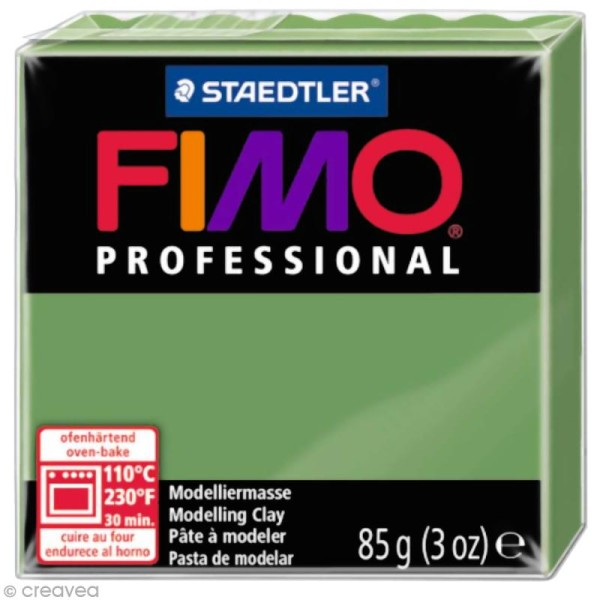 Pâte Fimo Professional Vert feuille 57 - 85 gr - Photo n°1