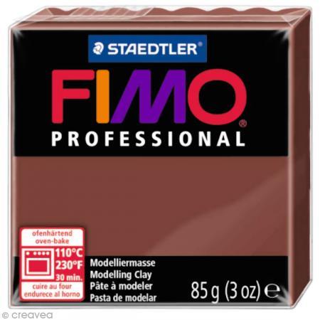 Fimo Professional Marron chocolat 77 - 85 gr - Photo n°1
