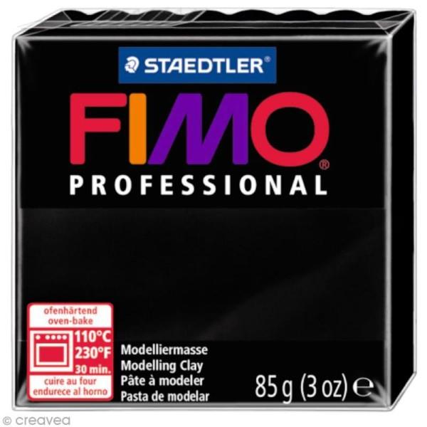 Pâte Fimo Professional Noir 9 - 85 gr - Photo n°1