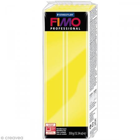 Fimo Professional Jaune citron 1 - 350 gr - Photo n°1