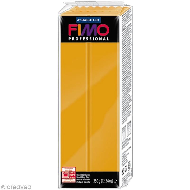 Fimo Professional Jaune ocre 17 - 350 gr - Photo n°1