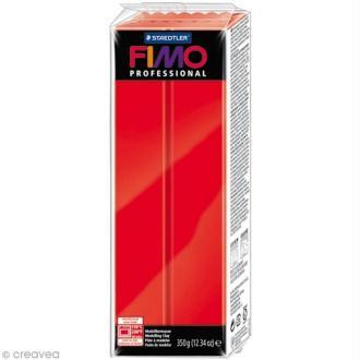 Pâte Fimo Professional Rouge pur 200 - 350 gr