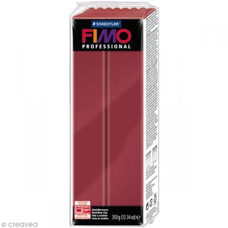 Fimo Professional Rouge bordeaux 23 - 350 gr - Photo n°1