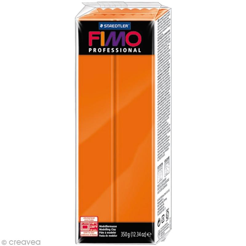 Pâte Fimo Professional Orange 4 - 350 gr - Photo n°1