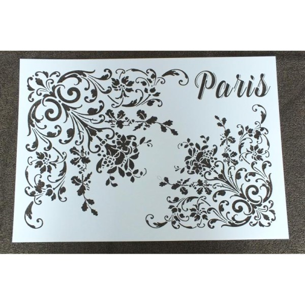 POCHOIR plastique Vintage Paris Format A4 29,7cm x 21 cm - Photo n°1