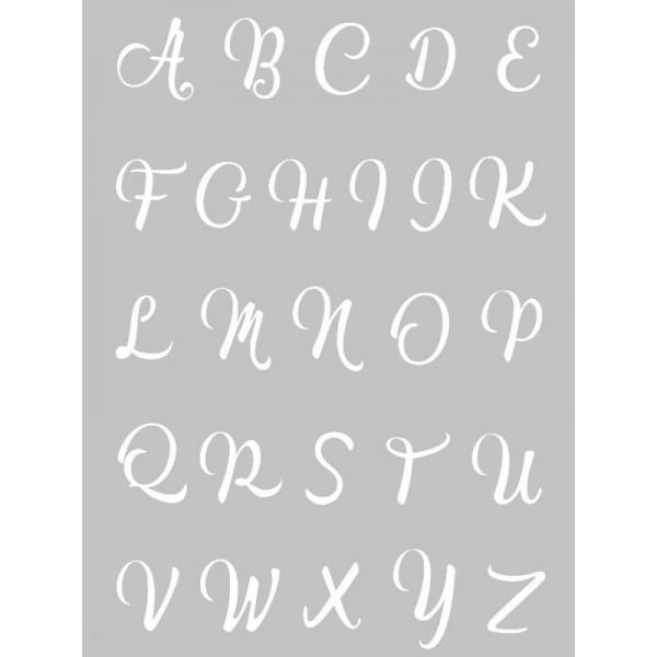 1 Pochoir Alphabet pour Pate Fimo, Pate Polymere, Cernit, Sculpey ref 265322 DTM - Photo n°1
