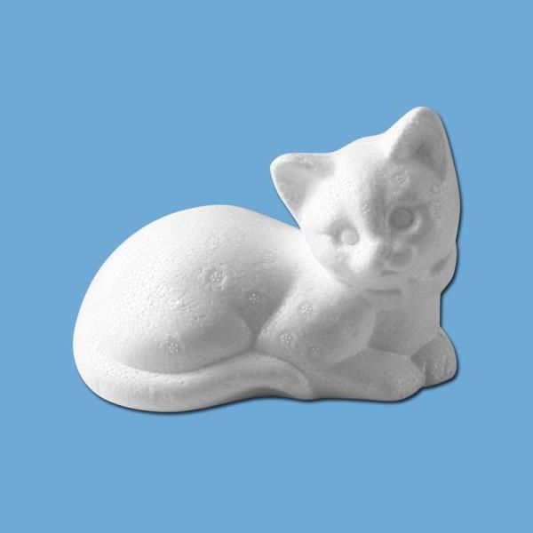 Chat couché en polystyrène 14 cm - Photo n°1