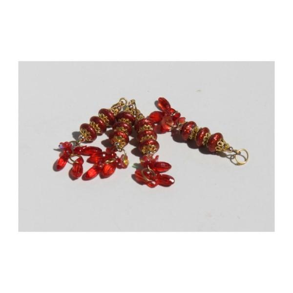 Tassel, Pampille indienne, Breloque rouge - Photo n°1