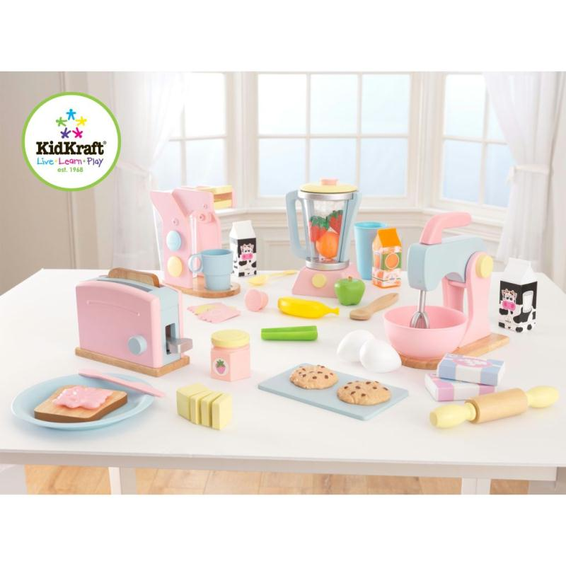 kidkraft jeu de cuisine pour enfants 8 pcs 63374 jeux d 39 imitation creavea. Black Bedroom Furniture Sets. Home Design Ideas