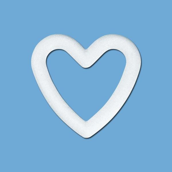 Coeur en polystyrène 20 cm - Photo n°1