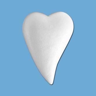 Coeur goutte en polystyrène 8 cm