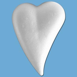 Coeur goutte en polystyrène 12 cm