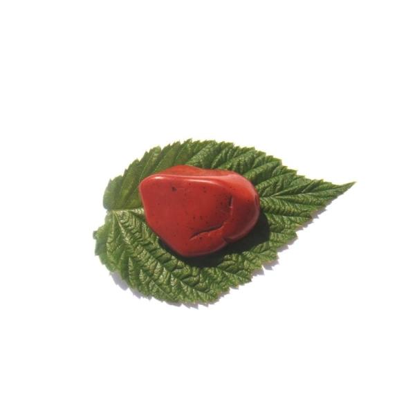 Jaspe rouge : Pierre roulée 3,5 CM x 2,6 CM x 1,5 CM max de tranche - Photo n°2