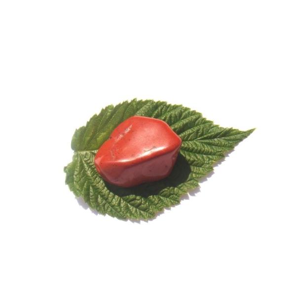 Jaspe rouge : Pierre roulée 3,5 CM x 2,6 CM x 1,5 CM max de tranche - Photo n°3