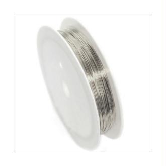 Fil Cuivre 0,6mm / Bobine 6m ARGENTE