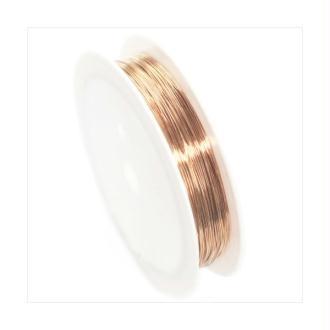 Fil Cuivre 0,6mm / Bobine 6m ROSE GOLD