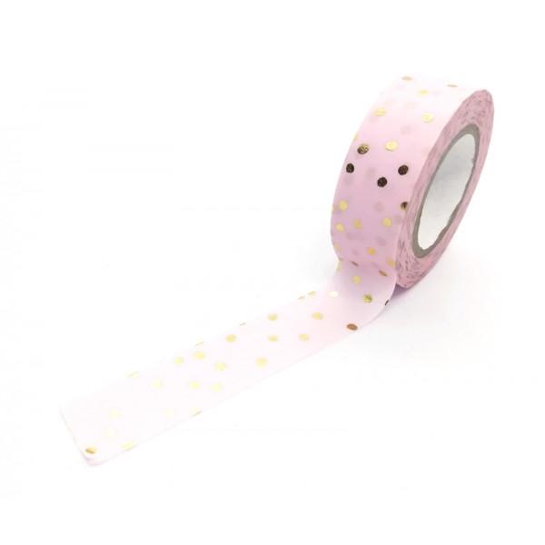 rouleau Washi Tape 10m - Pois Dorés CLASSICAL CHRISTMAS - Photo n°1
