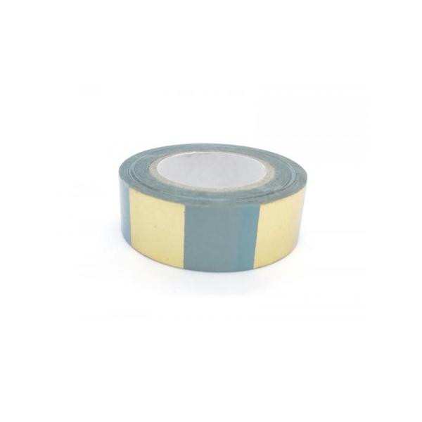 rouleau Washi Tape 10m - Rayures Dorées BOUQUET SAUVAGE - Photo n°2