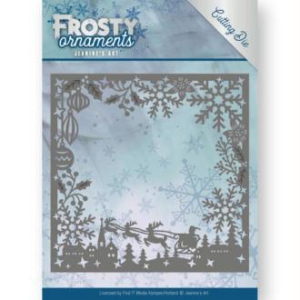 Die - jeaninnes art - frosty ornaments - cadre noël