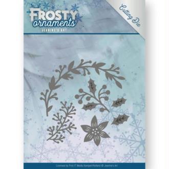 Die - jeaninnes art - frosty ornaments - branches de noël