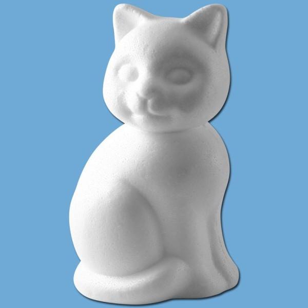 Chat assis en polystyrène 24 cm - Photo n°1