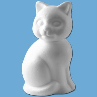 Chat assis en polystyrène 24 cm