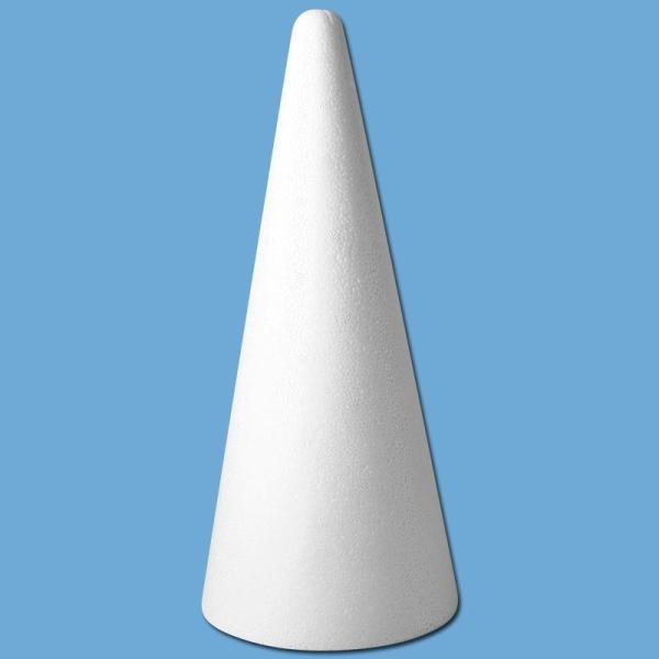Cone en polystyrène 28 cm - Photo n°1
