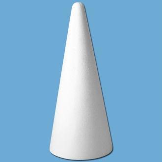 Cone en polystyrène 28 cm
